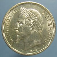 GORGEOUS & FULLY LUSTROUS 1869 A FRENCH 2 FRANCS