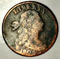 1802-P 1C DRAPED BUST LARGE CENT 18OHTT0909 ONLY 50 CENTS FOR SHIPPING