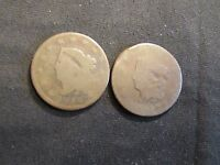 LOT OF 2 CORONET HEAD LARGE CENTS - 1816 & 1817