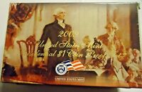 2009 US MINT PRESIDENTIAL DOLLAR PROOF SET W/ BOX AND COA 2