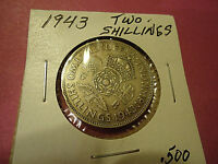 1943 TWO SHILLINGS ENGLISH COIN   .500 SILVER    >>>COMBINED SHIPPING<<<