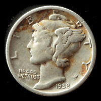 1938-S MERCURY 90 SILVER DIME SHIPS FREE. BUY 5 FOR $2 OFF