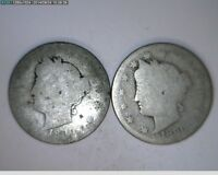 1890 LIBERTY NICKELS TWO COINS   67-84  FILLERS BOTH COINS