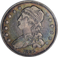 BETTER DATE 1832 CAPPED BUST QUARTER 25C ANACS VF35 PQ - TOUGHCOINS