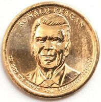 USA PRESIDENTIAL $1 COIN N39 RONALD REAGAN 2016 MINT D 2748