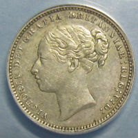 1883 VICTORIA SHILLING GRADED AU 50 DETAILS BY ANACS