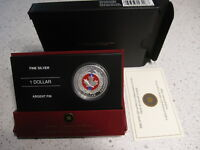 2006 MEDAL OF BRAVERY COIN ENAMEL EFFECT   PROOF SILVER DOLLAR COLOR RCM .9999