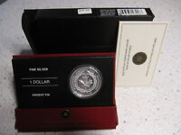 2006 MEDAL OF BRAVERY COIN PROOF SILVER DOLLAR RCM .9999. CASE & COA. NO TAX