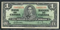 1937 $1 BANK OF CANADA ONE DOLLAR. AU /UNC. SERIAL  XL 0973770. BC 21C