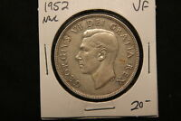 1952 CANADA SILVER DOLLAR NWL NO WATER LINES TYPE