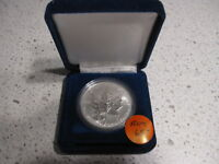 1998 CANADA SILVER MAPLE LEAF 1 OZ PRIVY MARK RCM CANADIAN MINT 90TH ANNIVERSARY
