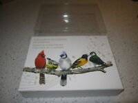 2015 COLORFUL SONGBIRDS BIRDS OF CANADA 5 COIN $10 SILVER SET MUSICAL BOX W COAS