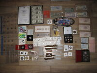 HUGE CANADA COIN & BILLS COLLECTION LOT SILVER DOLLARS ROLLS RCM SETS