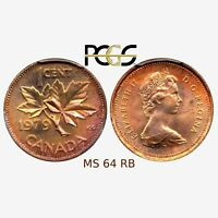 PCGS CERTIFIED MS64 RAINBOW CANADA 1979 1 CENT OUTSTANDING UNCIRCULATED COIN