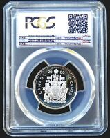 PCGS CERTIFIED PR69CAM CANADA 2000 50 CENT OUTSTANDING PROOF SILVER COIN