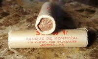 CANADA 1966 ORIGINAL BANK WRAPPED OBW ROLL OF PENNIES