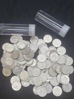 LOT OF 100 ROOSEVELT DIMES $10 FACE VALUE. 90  SILVER COINS
