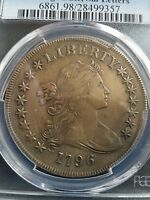 1796 DRAPED BUST DOLLAR, PCGS EXTRA FINE  DETAILS, LOW MINTAGE