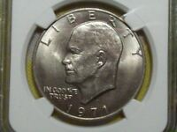 1971 D FRIENDLY EAGLE RDV-006 EISENHOWER DOLLAR-NGC MINT STATE 62