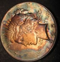 1925 PEACE DOLLAR  WOW GREAT COLOR   17-569