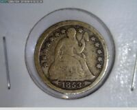 1853 10C SEATED LIBERTY DIME  7-282