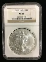 2012 AMERICAN SILVER EAGLE NGC MINT STATE 69
