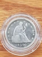 1876 TWENTY CENT PIECE NICE OLD COIN  MUST HAVE  1  DAY ONLY