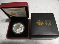2016 SILVER $10 TEN DOLLARS CANADIAN MAPLE LEAVES. WITH COA CASE & BOX. NO TAX