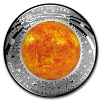 2019 AUSTRALIA DOMED THE EARTH AND BEYOND THE SUN 1 OZ SILVER PROOF COIN W/OMP