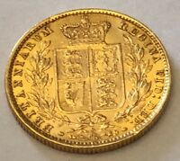 GOLD SOVEREIGN 1878 SYDNEY SHIELD FULL SOVEREIGN   S