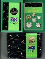 AUSTRALIA.1992.PROOF COIN SET.BARCELONA IN FOLDER AS IS SEE