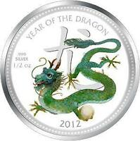 2012 LUNAR NIUE 1/2 OZ SILVER PEARL DRAGON COIN IN EGG BOX C