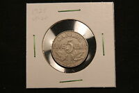 1925 CANADA 5 CENTS.  KEY DATE LOW MINTAGE COIN. VF20. BV $150