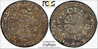 1430 31 GREAT BRITAIN GROAT 4 PENCE AU58 PCGS S 1859 RAINBOW TONED   TOP POP 1/0