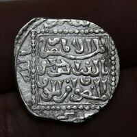 UNKNOWN MEDIEVAL SILVER ISLAMIC ISLAM HAMMERED COIN 20MM  2.
