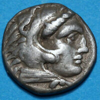 GREEK COIN ALEXANDER THE GREAT SILVER DRACHM 336 323 BC HERA