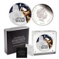 2016 STAR WARS CAPTAIN PHASMA SILVER PROOF $2 COIN   THE FORCE AWAKENS