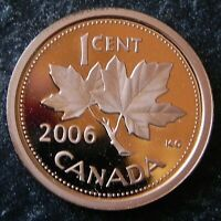 2006 CANADIAN HIGH GRADE  PROOF  1 CENT