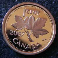 2007 CANADIAN HIGH GRADE  PROOF  1 CENT