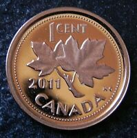 2011 CANADIAN HIGH GRADE  PROOF  1 CENT