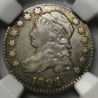1824 /2  CAPPED BUST DIME   NGC VF25