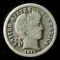 1913-P BARBER 90 SILVER DIME SHIPS FREE. BUY 5 FOR $2 OFF
