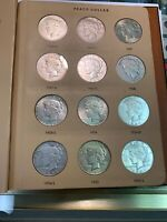 COMPLETE PEACE SILVER  DOLLAR SET 1921 1935 ..  XF SOME BETT