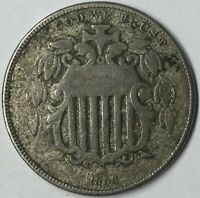 1866 5C SHIELD NICKEL VG UNCERTIFIED