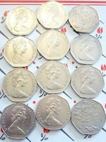 BIRTH YEAR LARGE/OLD 50P COIN HUNT D DAY 1970 & 1985 YOUR CHOICE 1969/1994 @LOOK