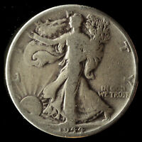 1944-P WALKING LIBERTY 90 SILVER HALF SHIPS FREE. BUY 5 FOR $2 OFF