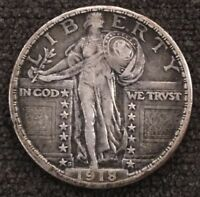 1918 S STANDING LIBERTY QUARTER GREAT DETAIL WORTH GRADING