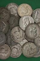 FRANKLIN HALF DOLLARS  1948 1963  CIRCULATED 90  SILVER   CHOOSE HOW MANY