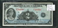 1935 $2 BANQUE DU CANADA FRENCH BANKNOTE. F 15. BC 4. BV $700