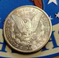 1881 S AMERICAN MORGAN SILVER ONE DOLLAR COIN VAM32 OVER POLISHED DIE VARIETY